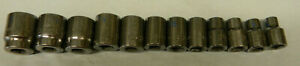 Matco Tools 3 8 Drive 12pc Metric 6pt Shallow Socket Set 8 19mm sbm126ta