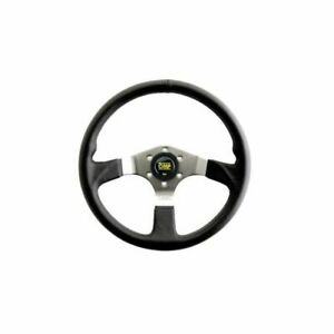 Omp Racing Od2019ln Steering Wheel Asso Black Leather Grip 13 78 Dia New