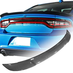 For 11 20 Dodge Charger Rt Sxt Carbon Fiber Style Abs Rear Trunk Spoiler Wing Us