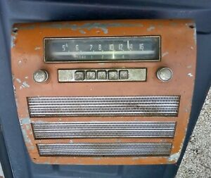 Vintage Mopar Model 606 Dodge Plymouth Tube Radio Dash Bezel Speaker 1951 52