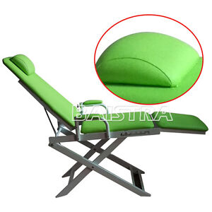Portable Dental Folding Chair Unit Instrument Equipment Green Dentist Seat
