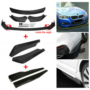 Glossy Black Front Bumper Lip Spoiler Rear Side Skirt Splitter Kit For Lexus