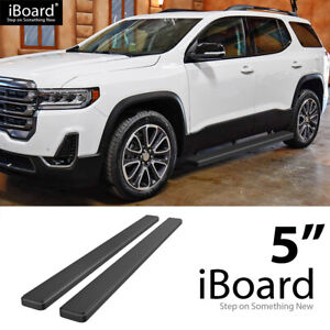 Iboard Running Boards 5 Inches Matte Black Fit 18 21 Chevy Traverse