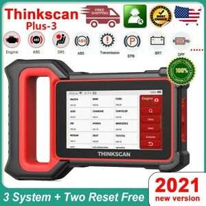 Thinkscan Plus S4 Car Diagnostic 3 System Abs Srs Tpms Scanner Obd2 Code Reader
