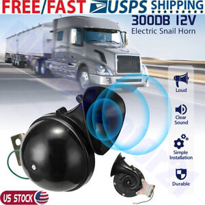 300db 12v Super Loud Train Horn Snail Air Horn For Car Motorcycle Truck Boat