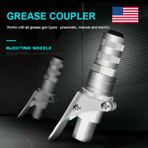 Grease Gun Coupler Lock Quick On Like Air Chuck Fit Sae metric Zerk Fitting Tool