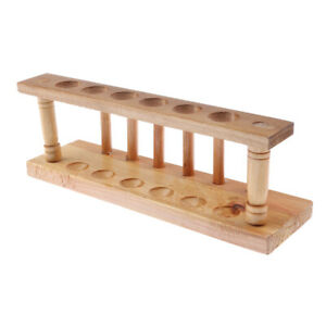 Wooden 6 Holes Chemical Test Tubes Storage Stand lab Equipment