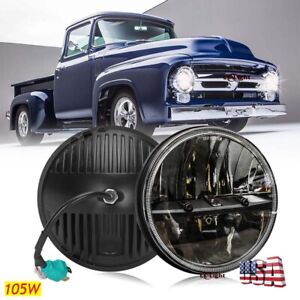 Newest 105w 7 Round Led Headlight High Low Sealed Beam Bulb For Ford Pickup Mpv