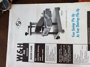 W H Molder Planer With Cutting Knives