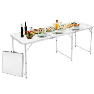 6ft Folding Table Aluminium Indoor Outdoor Picnic Party Camping Portable Desk Us