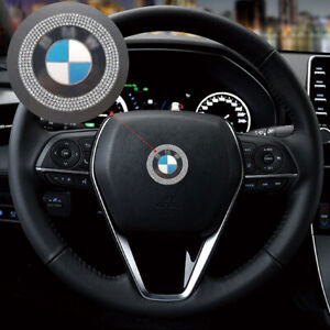 Bling Steering Wheel Logo Diamond Ring Cover Decal For Bmw