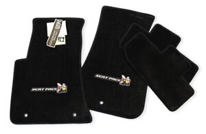 New Scat Pack Logo Dodge Challenger Floor Mats Black 4pc R T 392 Srt Instock
