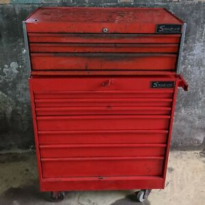 Snap On Kr 547 Kr 557b Bottom Middle Tool Box 10 Drawers Vintage Rolling