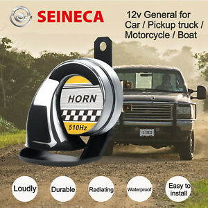Seineca Snail Electric Air Horn Super Loud 12v For Car Motorcycle Truck Boat