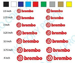 14 Brembo Decal Sticker Vinyl Caliper Brake Heat Resistant 7sizes Multi Colors