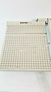 Boston 2612 Paper Cutter 12 Trimmer Heavy Duty Guillotine Tested