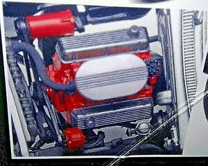 Custom 409 C I Chevy Engine Branded Logo Decals By Chip Foose