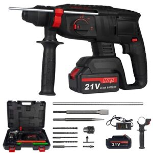3 8 cordless Rotary Hammer Drill Sds plus 1200w Electric Power W Battery Bits