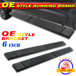 For 02 08 Dodge Ram 1500 Quad Cab 6 Nerf Bar Step Board Running Board Black