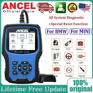 Ancel Bm700 For Bmw All System Cbs Abs Srs Replace Battery Diagnostic Reset Tool