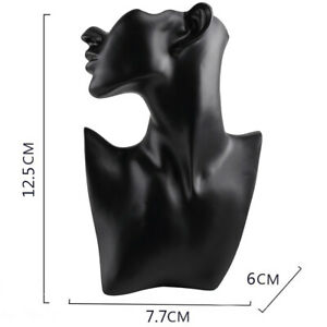Resin Necklace Display Holder Jewelry Bust Stand For Jewelry Accessories Black