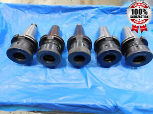 Lot Of 5 Cat 50 Round Nut Tg150 Collet Chuck Tool Holder Kennametal Command