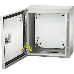 Vevor 12x12x6 Carbon Steel Electrical Enclosure Ip65 Wall Mount Junction Box