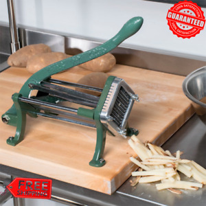 French Fry Cutter Slicer Durable Commercial Compatible Countertop Cast Iron 1 4