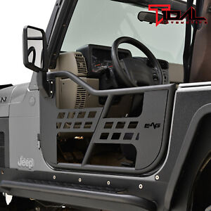 Tidal Safari Tube Door Left Right With Side Mirror Pair Fit For 97 06 Jeep Tj