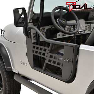 Tidal Safari Tube Door Left Right With Mirror Fit For 76 95 Jeep Wrangler Cj7 Yj