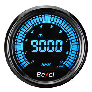 2 52mm Digital Led Display Elec 0 9000 Rpm Tachometer Tacho Gauge Car Truck