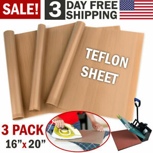 3p Ptfe Teflon Transfer Sheets For Heat Press Non Stick Reusable Diy Craft Paper