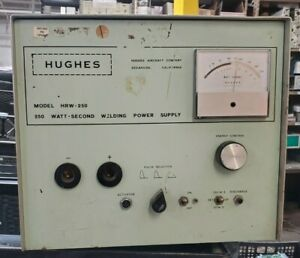 Hughes Welding Power Supply Hrw 250b Tested To Power On Only n1