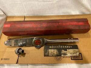 Snap On Te175 Torqometer Torque Wrench 175 Ft Lbs 1 2 Drive W Plastic Case