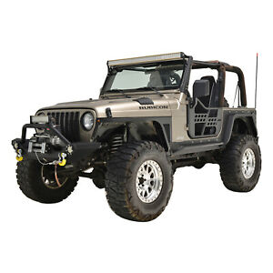 Eag Safari Replacement Tubular Door With Mirror Fit For 97 06 Jeep Wrangler Tj