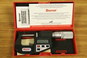 Starrett Digital Lcd Outside Micrometer 0 25mm 0 1 0 001mm 0 00005