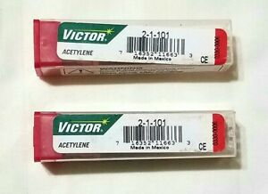 Victor 2 1 101 Acetylene Cutting Torch Tip Lot Of 2 St2600fc Ca2460 Mt210 Mt204