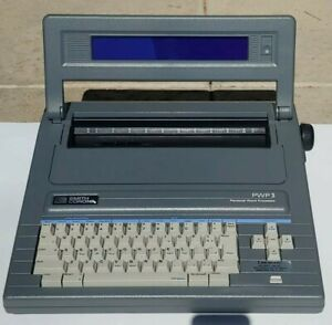 Smith Corona Pwp 3 Personal Word Processor W Lid Cover Gray Quiet Excellent