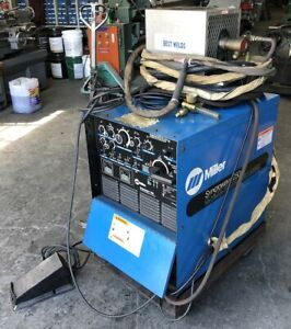 Miller Syncrowave 250 Cc ac dc Welding Power Source Welder W Gun Pedal Cooler
