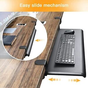 Huanuo Large Clamp on Keyboard Tray 26 4 X 11 8 Under Desk Comfort Keyboard