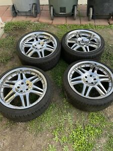 Brabus Monoblock Vi 2 Piece Wheels 20in 5x112 Ronal Mercedes Rare Amg Real Rims