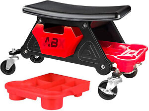 Heavy Duty Roller Mechanics Seat And Brake Stool With 4in Drawer Capacity 300lb