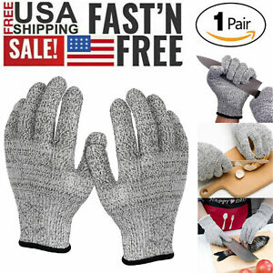 Safety Cut Proof Stab Resistant Butcher Gloves Kitchen Level 5 Protection S M L