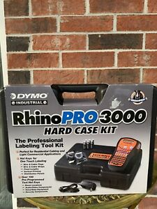 Dymo Rhino Pro 3000 Label Maker With Hard Case No Tape little Use
