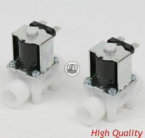 2pcs 1 2 12v Dc Electric Solenoid Valve Normally Open N o water Etc