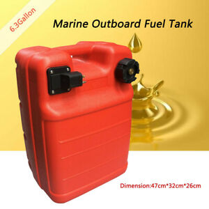 6 3 Gallon Boat Fuel Tank 24l External Red Portable Outboard Motor Gas Tank Us