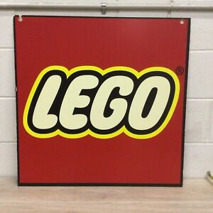 Lego Red Square Logo Store Display Sign Toys R Us 28 x28 Foam Board Shelf 1