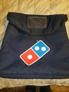 Authentic Large Navy Blue Dominos Pizza Insulated Delivery Thermal Heat Wave Bag
