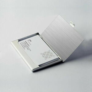 Stainless Steel Metal Business Card Holder Case Id Credit Wallet Silver New
