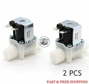 2pcs 1 2 12v Dc Electric Solenoid Valve Normally Close N c water Etc